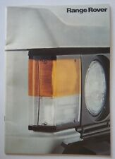 RANGE ROVER CLASSIC orig 1980 UK Mkt Full 30pp Sales Brochure