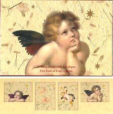 Cherubs Heavenly Angels - 20 Blank Cards w/ Envelopes. Five Each of Four Designs