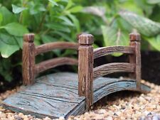 Miniature Wooden Bridge WS 1598 Dollhouse Fairy Garden