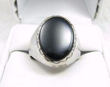 Vintage WM Wheeler Manufacturing Black Onyx Sterling Silver Mens Ring Sz 10.75