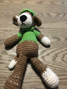"Handmade Crochet Dog Plush Toy - 14"""