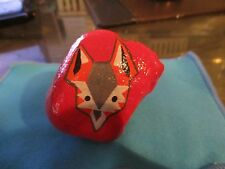 """Silver Fox""  Paperweight/Pet Rock-Hand Painted"