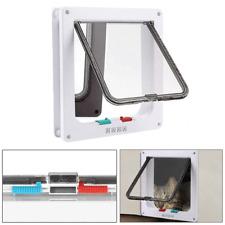 New 4 Way Large Pet Supplies Cat Puppy Dog Magnetic Lockable Safe Flap Hole Door