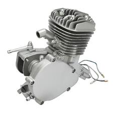 80cc 2-Stroke Engine For Motorized Bicycle Bike Engine Silver Motor Kit New