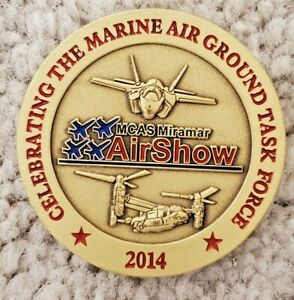 MCAS Miramar 2014 Air Show Marine Ground Task Force Hornet Osprey Challenge Coin