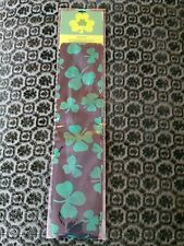 St. Patrick's Day Shamrock Black and Green Scarf