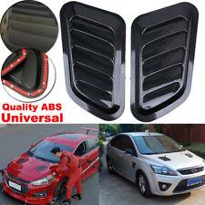 2pcs Carbon Fiber Car Engine Air Flow Intake Scoop Hood Turbo Bonnet Vent Cover