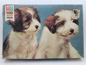 Junior Puzzle 100 Pieces - 2 Puppies (4828-14) Milton Bradley 1978