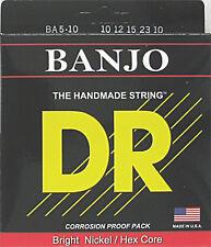 DR Strings 5 string Banjo BA5-10 Banjo Strings 10-23 2 packs