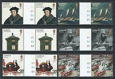 Großbritannien 2016 Royal Mail 500, GUTTER Paar 6er Set nicht gefaßt postfrisch