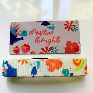 Zox strap single Positive Thoughts elastic wristband bracelet floral #770