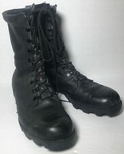 MILITARY COMBAT BOOTS MEN'S SZ 10.5 R OLD STOCK VINTAGE RO SEARCH BLACK