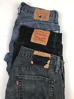 Lot of 3 Levi's 514 Slim Straight Jeans Blue/Black Wash Men's Size 31x32