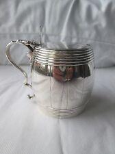 Novelty George III Silver Barrel Shape Mustard Pot. London 1782.