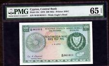 1979 CYPRUS CENTRAL BANK 500 MILS PCK 42c PMG 65 EPQ  PLEASE  LQQK!*