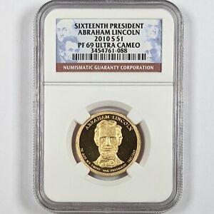 2010-S President Abraham Lincoln $1 NGC PR 69 Ultra Cameo 181664B
