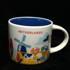 Starbucks Netherlands YAH Mug Windmill Bicycle Canal Coffee Cup You Are Here New