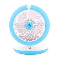 USB Water Misting Fan Portable Personal Spray Humidifier With PowerBank Blue