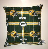 Packers Pillow NFL Pillow Green Bay Packers Pillow Football Pillow HANDMADE USA