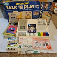 VINTAGE 1984 CHILD GUIDANCE TALK 'N PLAY W/ lot of 9 books and tapes.  For Parts