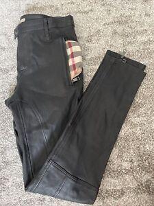 Burberry Brit Lamb Skin Leather Pants Size USA4 UK5 ITA38 GER34 #D