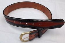 WESTERN American Leather Belt vintage in rilievo SELLA CUOIO