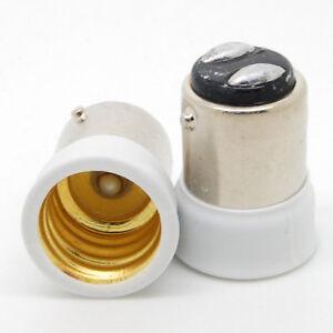 B15 to E14 SES Lamp Light Bulb Socket Light Fitting Extender Adaptor Holder 1pcs