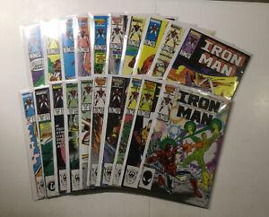 Iron Man 201-309 Annual 7-12 Near Complete Lot Run Set Near Mint No Marvel