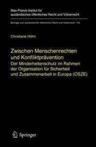 Zwischen Menschenrechten Und Konfliktpr?vention - Der Minderheitenschutz Im R...