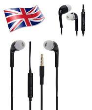 Black Noise Isolating Handsfree Headphones Earphones Earbud with Mic