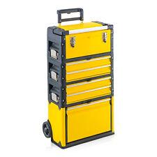 Trolley Werkzeugtrolley Metall, Kunststoff Werkstattwagen Trolly, 6 Fächer gelb