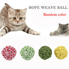 Cat Exercise Toy Balls Pet Interactive Play Chewing Rattle Scratch Toys,