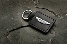 ANTHONY HOLT RHODIUM PLATED & ENAMELLED WINGS GENUINE ASTON MARTIN KEY RING