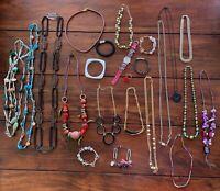 Modeschmuck Konvolut Posten - Ketten und Armbänder - verschiedene Materiale (3)