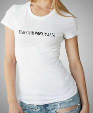 Emporio Armani Womens White T shirt Slim fit size S*M,Stretch jersey