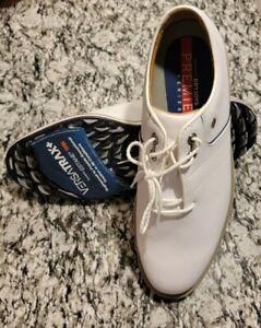 Brand New FootJoy DryJoys Premiere Series Flint Golf Shoes White Size 10W 53922