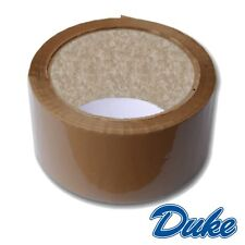"6 ROLLS OF STRONG BROWN PACKING TAPE - 48mm x 66m (2"") - Big Rolls Parcel Tape"