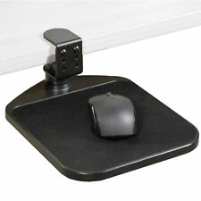 VIVO Black Rotating Desk Clamp Adjustable Computer Mouse Pad and Device Holder