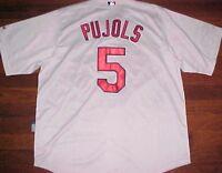 Majestic Cool Base MLB NL St Louis Cardinals Albert Pujols 5 White Jersey 52 New