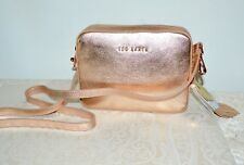"NWT $195 TED BAKER ""Darwina"" Tassel Camera Bag Crossbody Bronze Rose Gold"