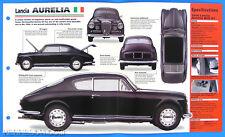 Lancia Aurelia Italy 1951-1958 Spec Sheet Brochure Poster IMP Hot Cars 1 #43