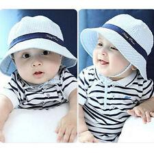 Toddler Kids Baby Boy Girl Spring Summer Beach Pots Hat Cotton Sun Visor Caps UK
