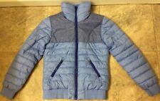 H & M Sport Girls Light Blue Lightweight Quilted Jacket Coat Size M (9-10)