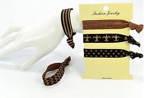 Lot de 5 bracelets chouchou