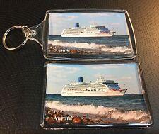 P&O Cruises AURORA New Livery Photo Key Ring & Fridge Magnet Set Cruise Ship