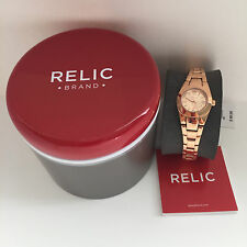 NEW ARRIVAL! RELIC by FOSSIL PAYTON ROSE GOLD TONE WOMENS WATCH ZR34208 $90 SALE