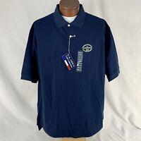 US Senior Open Olympia Fields C C  Logo Polo Shirt Blue Mens Size XXL 2XL NWT