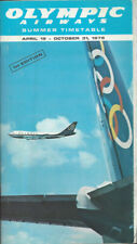 Olympic Airways system timetable 4/19/76