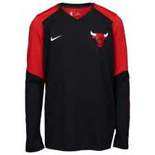 Boys Nike Chicago Bulls Practice Pullover Fleece Sweatshirt Large 14-16 NEW $55