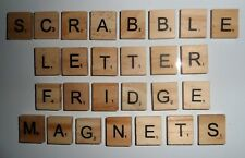 FRIDGE MAGNETS Scrabble Letters Wooden Tiles Individual Letters to Full Alphabet